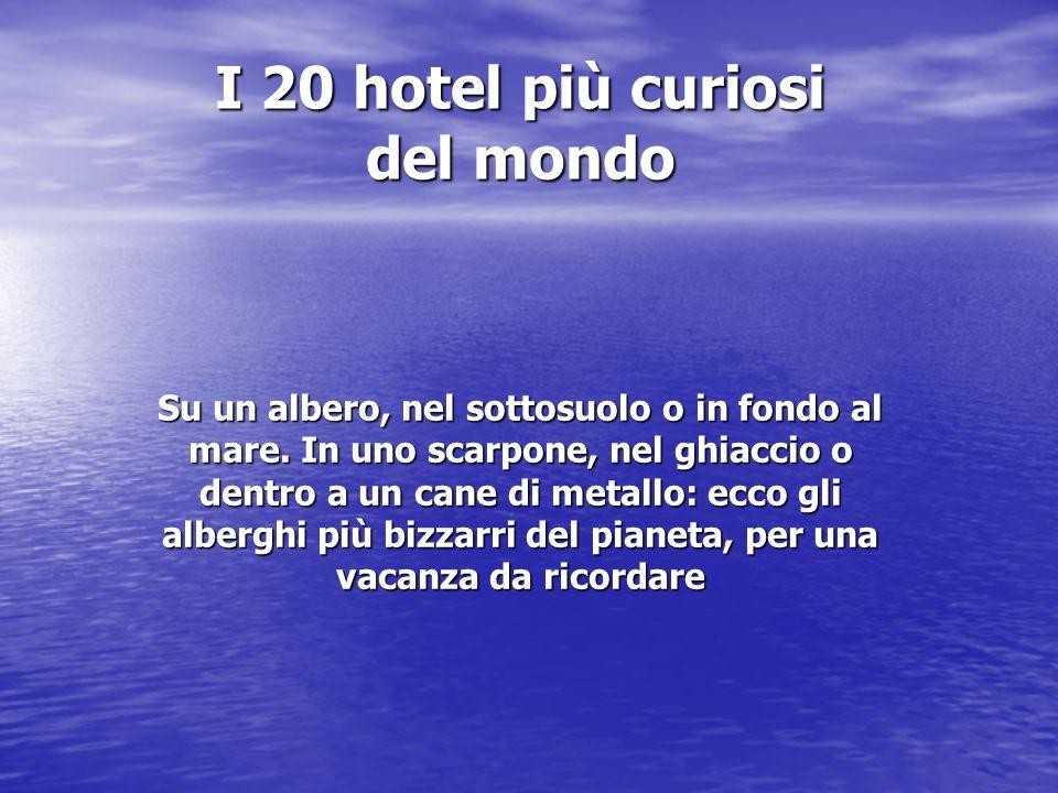 I 20 hotel più curiosi del mondo Su un albero, nel sottosuolo o in fondo al mare.