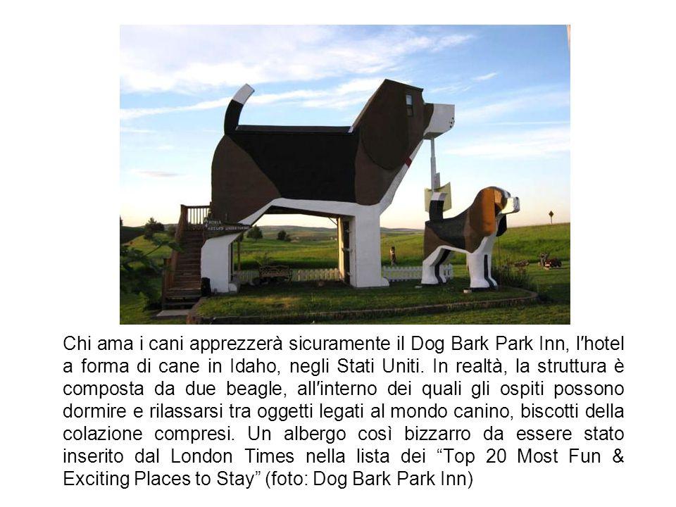 Chi ama i cani apprezzerà sicuramente il Dog Bark Park Inn, l′hotel a forma di cane in Idaho, negli Stati Uniti.