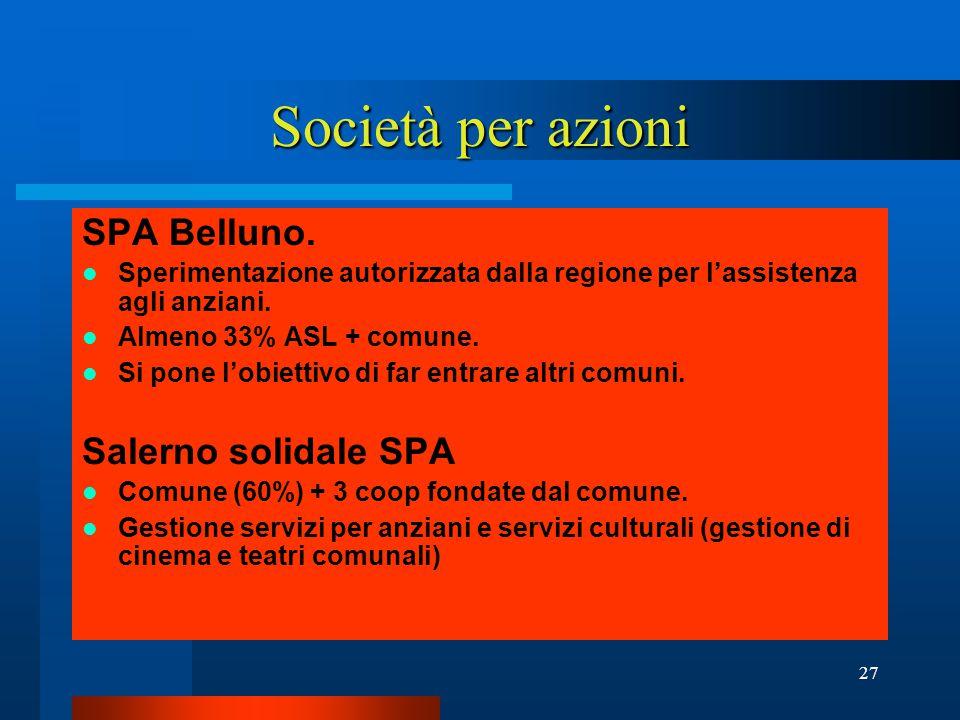 27 Società per azioni SPA Belluno.