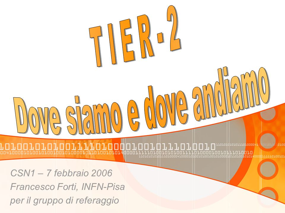 CSN1 – 7 febbraio 2006 Francesco Forti, INFN-Pisa per il gruppo di referaggio