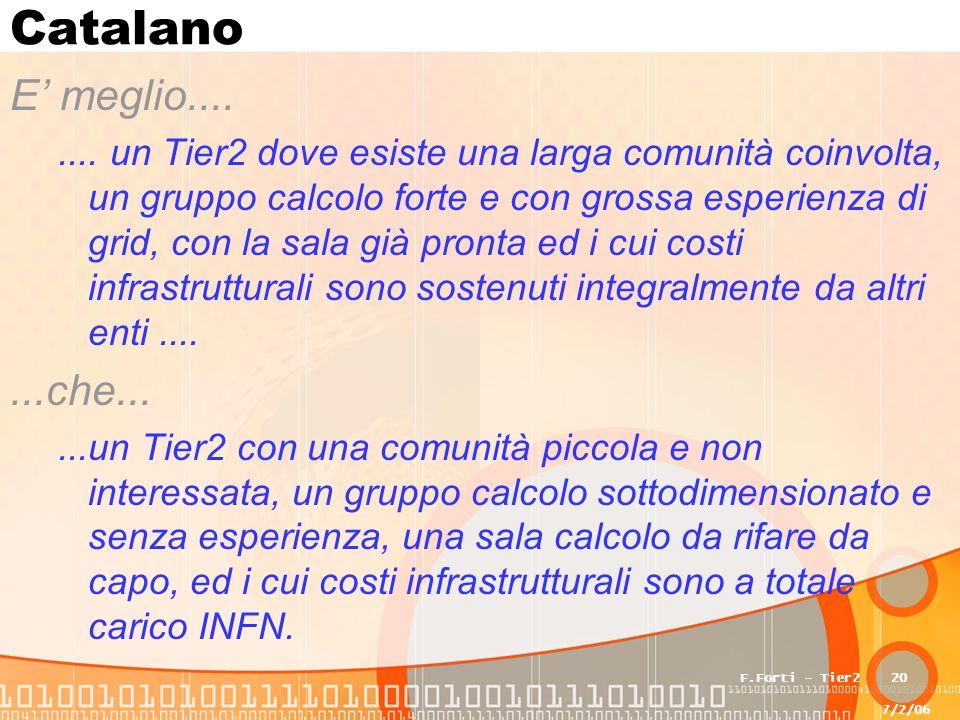 7/2/06 F.Forti - Tier220 Catalano E' meglio........