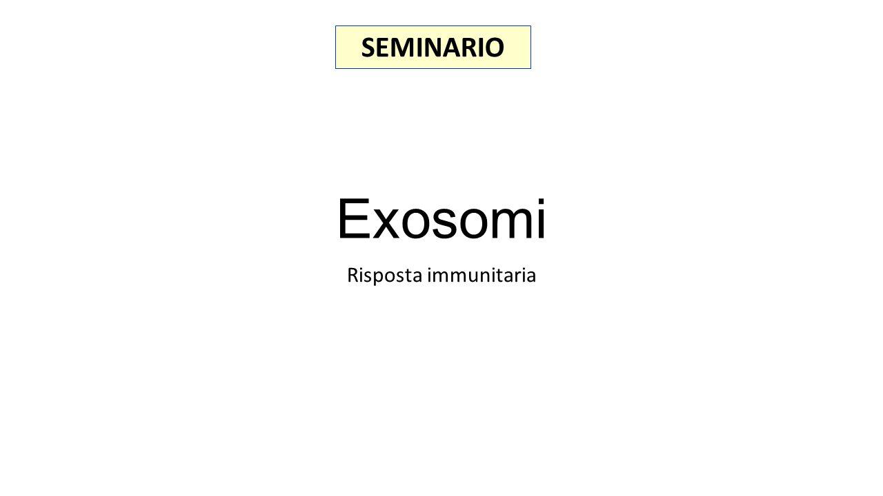 Exosomi Risposta immunitaria SEMINARIO