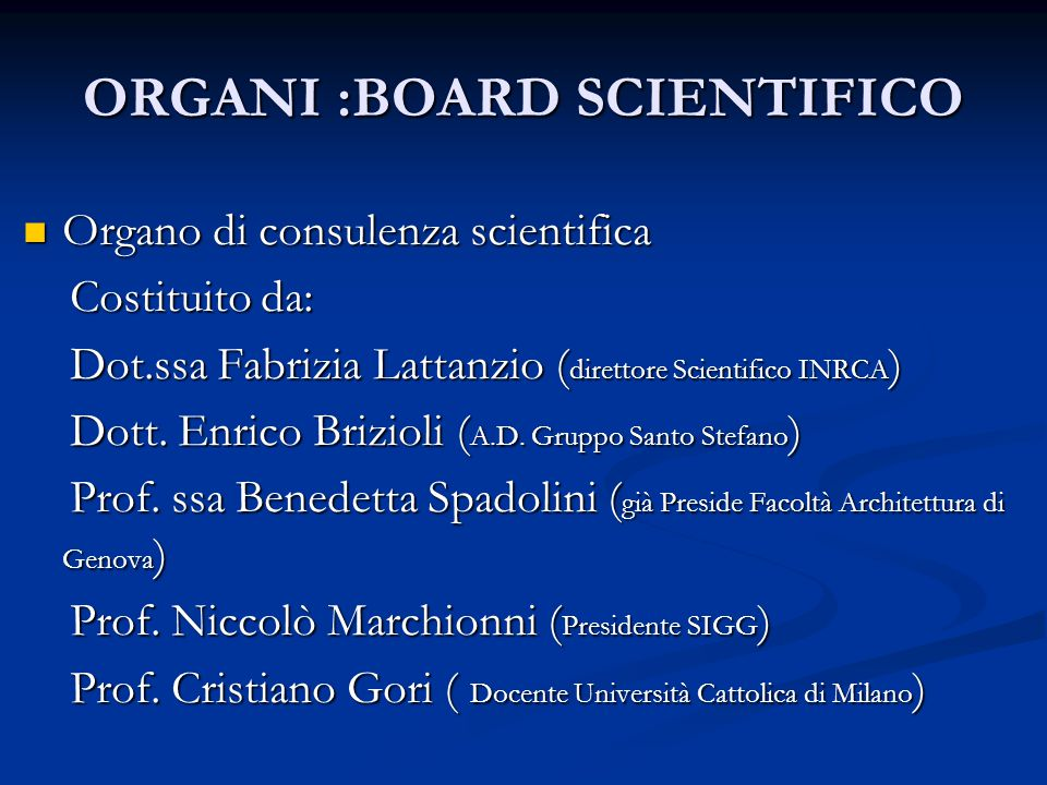 ORGANI: SEGRETARIO GENERALE Nominato dal C. D. : Nominato dal C. D. : Avv.Irene Leonelli Avv.Irene Leonelli