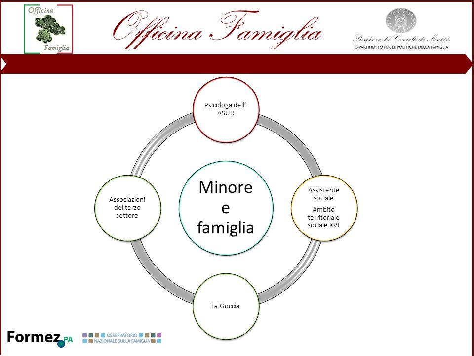 Minore e famiglia Psicologa dell' ASUR Assistente sociale Ambito territoriale sociale XVI La Goccia Associazioni del terzo settore
