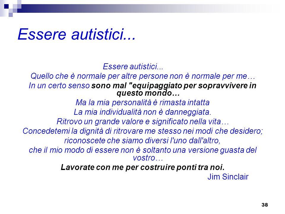 38 Essere autistici...