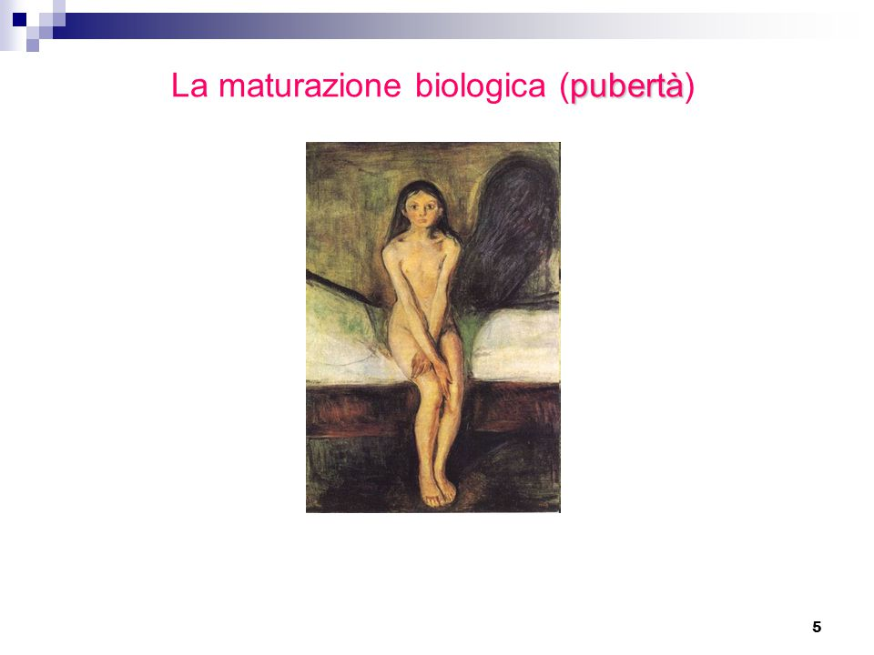 6 Pubertà nella ragazza Primi segni puberali (10 a1/2 - 11 a):  Aumento di volume del seno e modificazioni organo genitale esterno  Peluria pubica e ascellare  Aumento di statura Comparsa mestruazioni (circa 2 a dopo i primi segni puberali).