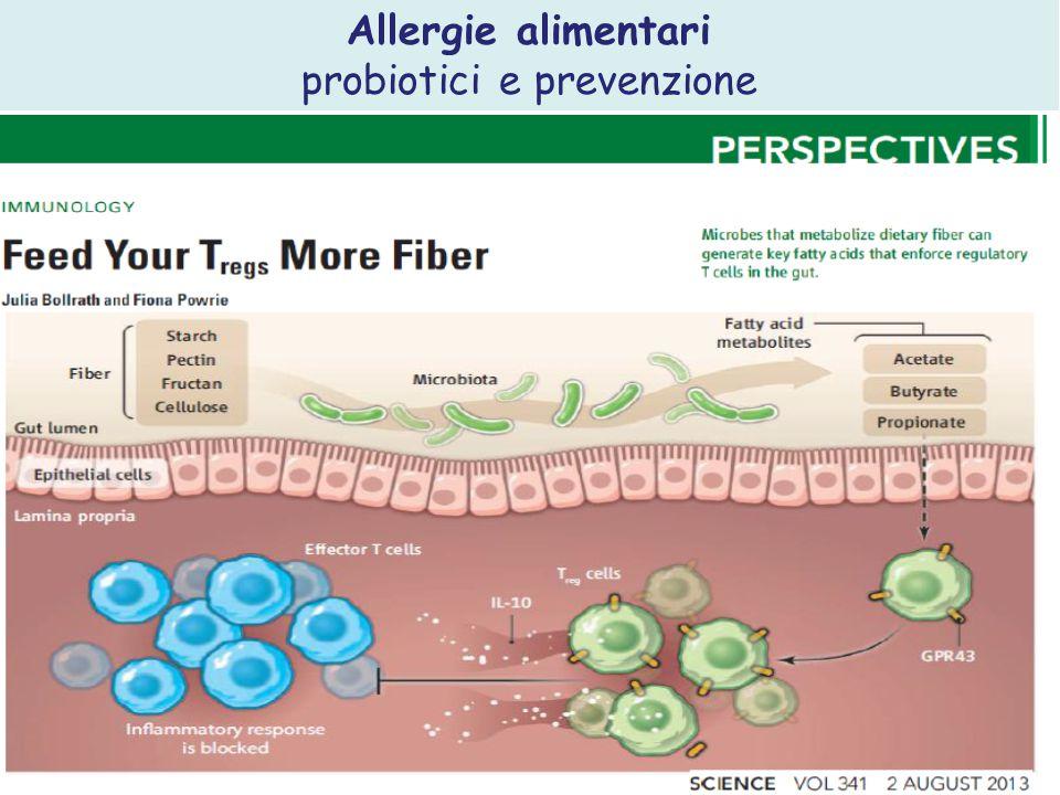 Allergie alimentari probiotici e prevenzione