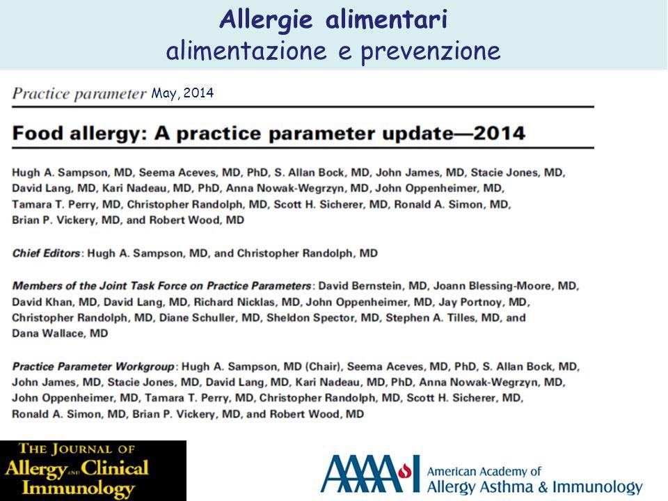 Allergie alimentari alimentazione e prevenzione May, 2014