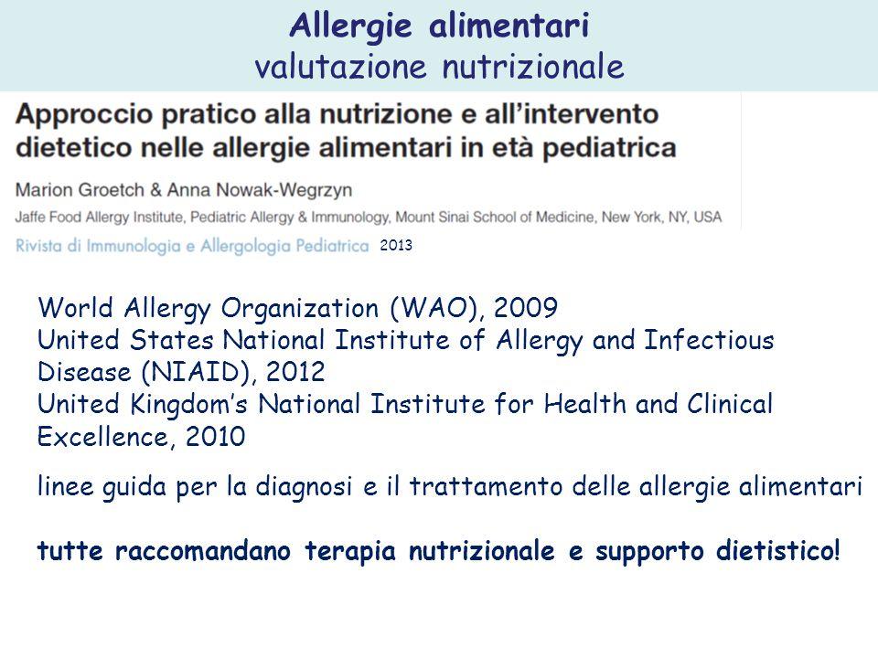 Studi recenti sembrano sostenere la ritardata introduzione di allergeni, come uova, latte, grano, e arachidi come possibile fattore di rischio per l allergia agli alimenti o malattia atopica.
