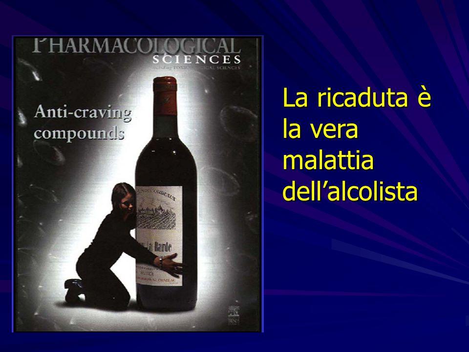 La ricaduta è la vera malattiadell'alcolista