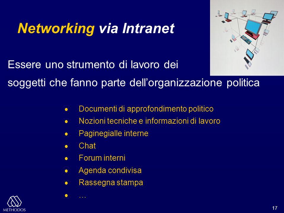 17 Essere uno strumento di lavoro dei soggetti che fanno parte dell'organizzazione politica  Documenti di approfondimento politico  Nozioni tecniche