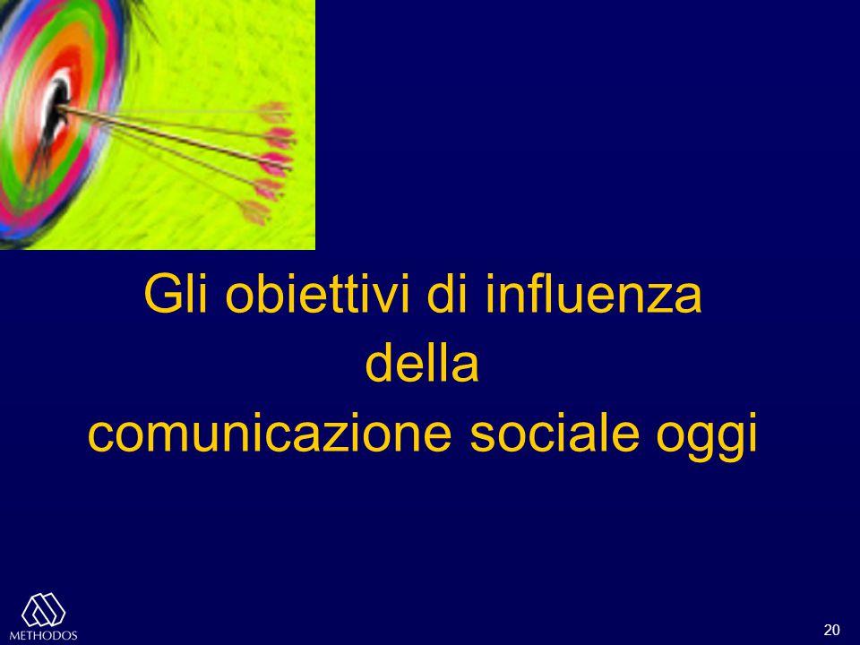 20 Gli obiettivi di influenza della comunicazione sociale oggi