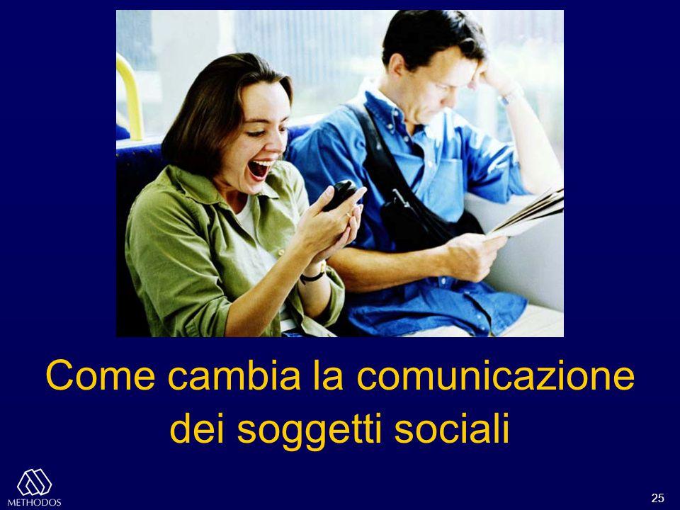 25 Come cambia la comunicazione dei soggetti sociali