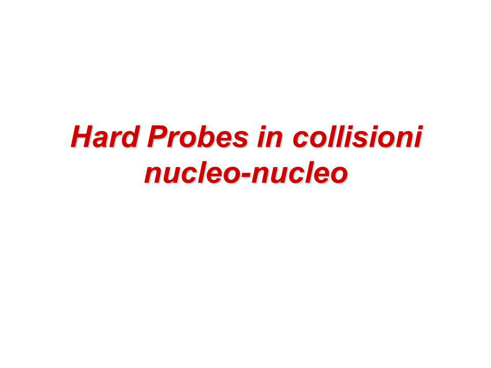 Hard Probes in collisioni nucleo-nucleo