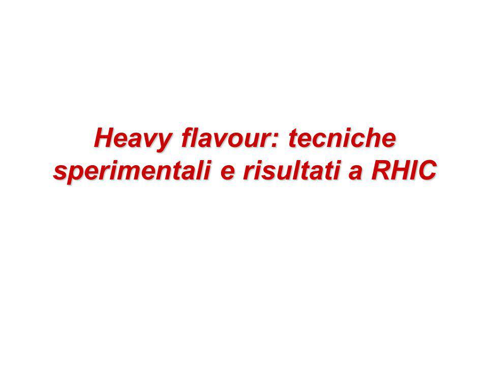 Heavy flavour: tecniche sperimentali e risultati a RHIC