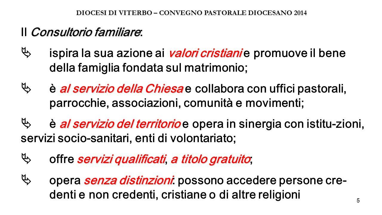 5 Consultorio familiare valori cristiani al servizio della Chiesa al servizio del territorio servizi qualificatia titolo gratuito senza distinzioni Il