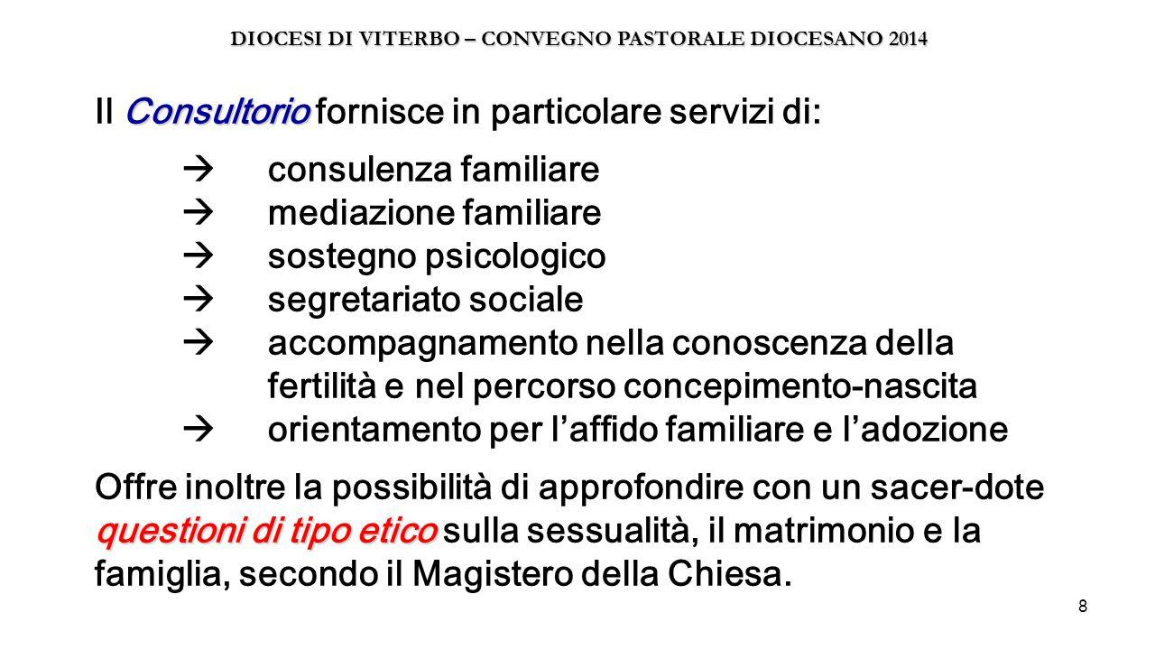 9 Punto Accoglienza A novembre il Consultorio si sposterà presso i locali della Curia, in via S.