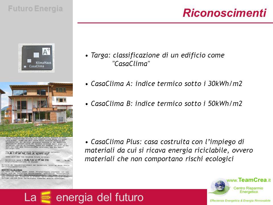 Futuro Energia Il concorso Il conocorso CasaClima Un iniziativa dell Ufficio Aria e Rumore La energia del futuro