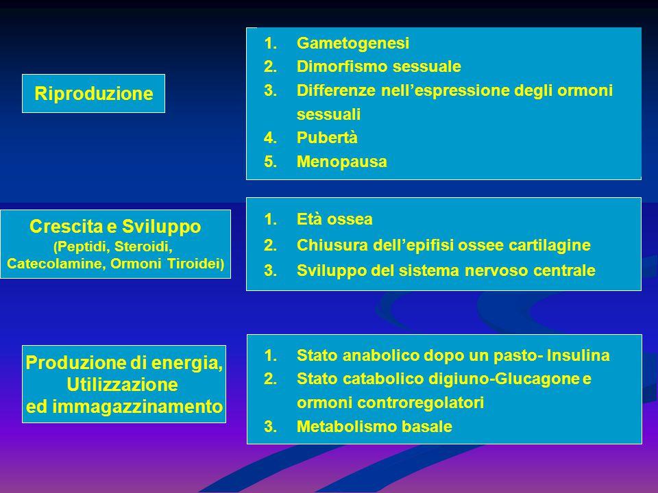 Riproduzione 1.Gametogenesi 2.Dimorfismo sessuale 3.Differenze nell'espressione degli ormoni sessuali 4.Pubertà 5.Menopausa Crescita e Sviluppo ( Pept