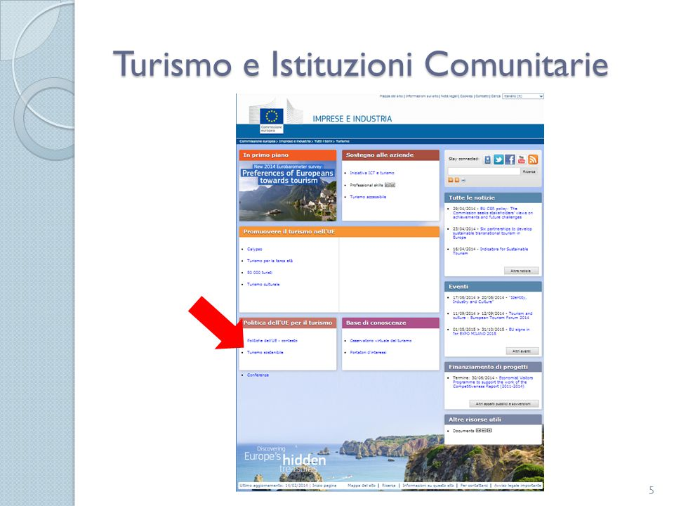 Programmi e fondi comunitari di interesse per il settore Turistico 26 European Structural Investment Fund - ESIF European Territorial Cohesion Fund - ETC European Rural Development Fund - ERDF European Maritime and Fisheries European Social Fund - ESF Horizon 2020 Erasmus+ Cosme Life Programme Creative Europe INDIRETTI DIRETTI PART.