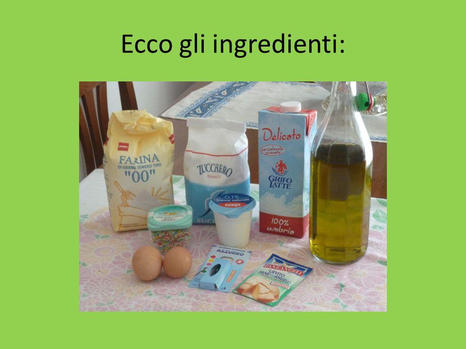 Ecco gli ingredienti: