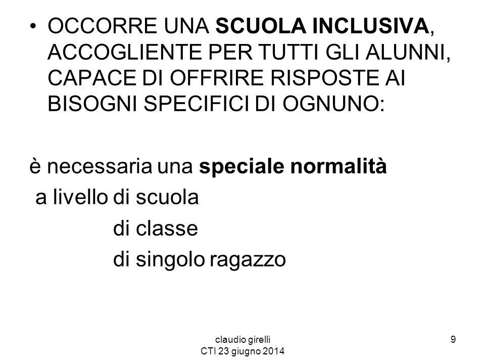 claudio girelli CTI 23 giugno 2014 QUALE IDEA DI SCUOLA HO.