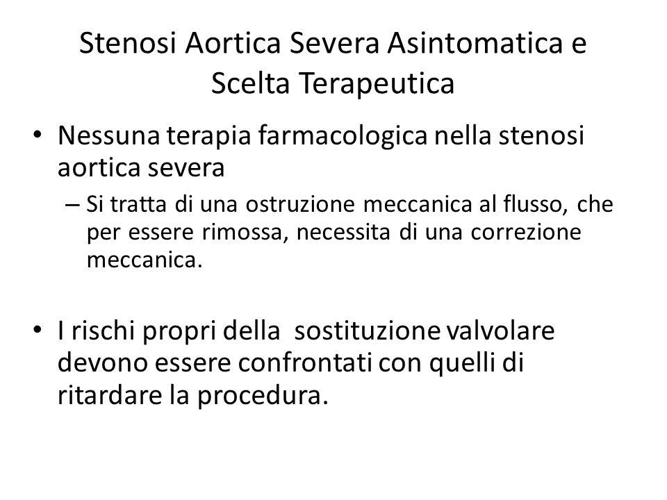 Stenosi Aortica Severa Asintomatica e Scelta Terapeutica Nessuna terapia farmacologica nella stenosi aortica severa – Si tratta di una ostruzione mecc
