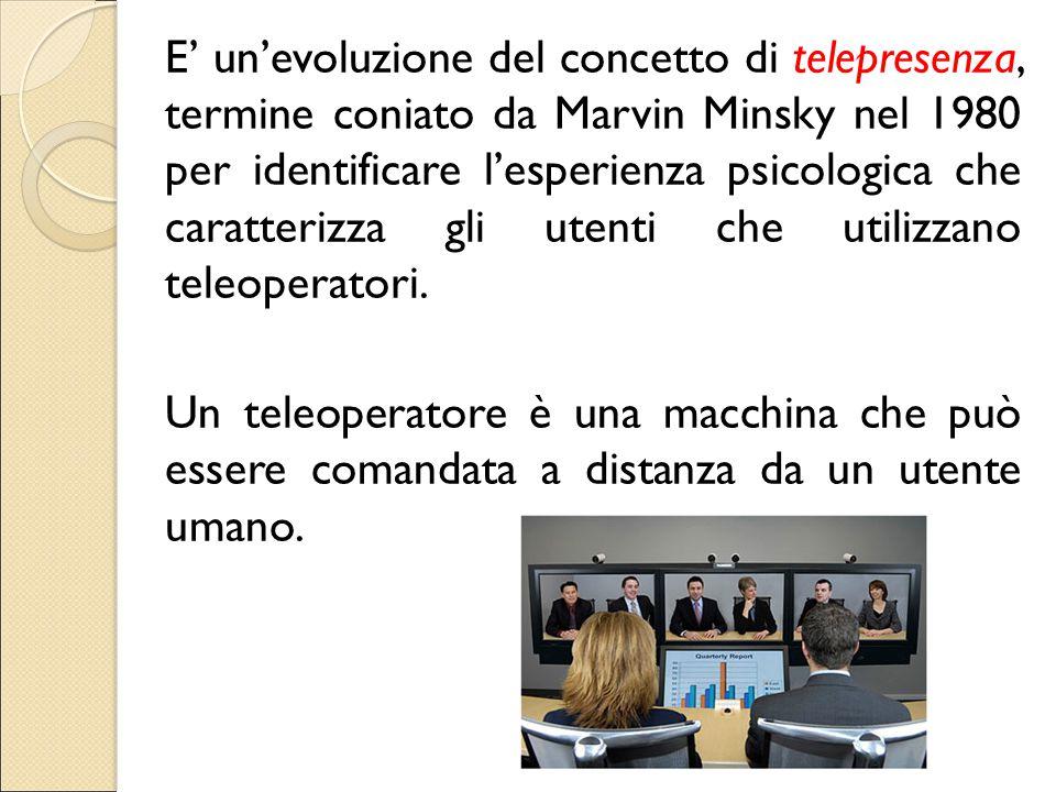 E' un'evoluzione del concetto di telepresenza, termine coniato da Marvin Minsky nel 1980 per identificare l'esperienza psicologica che caratterizza gl