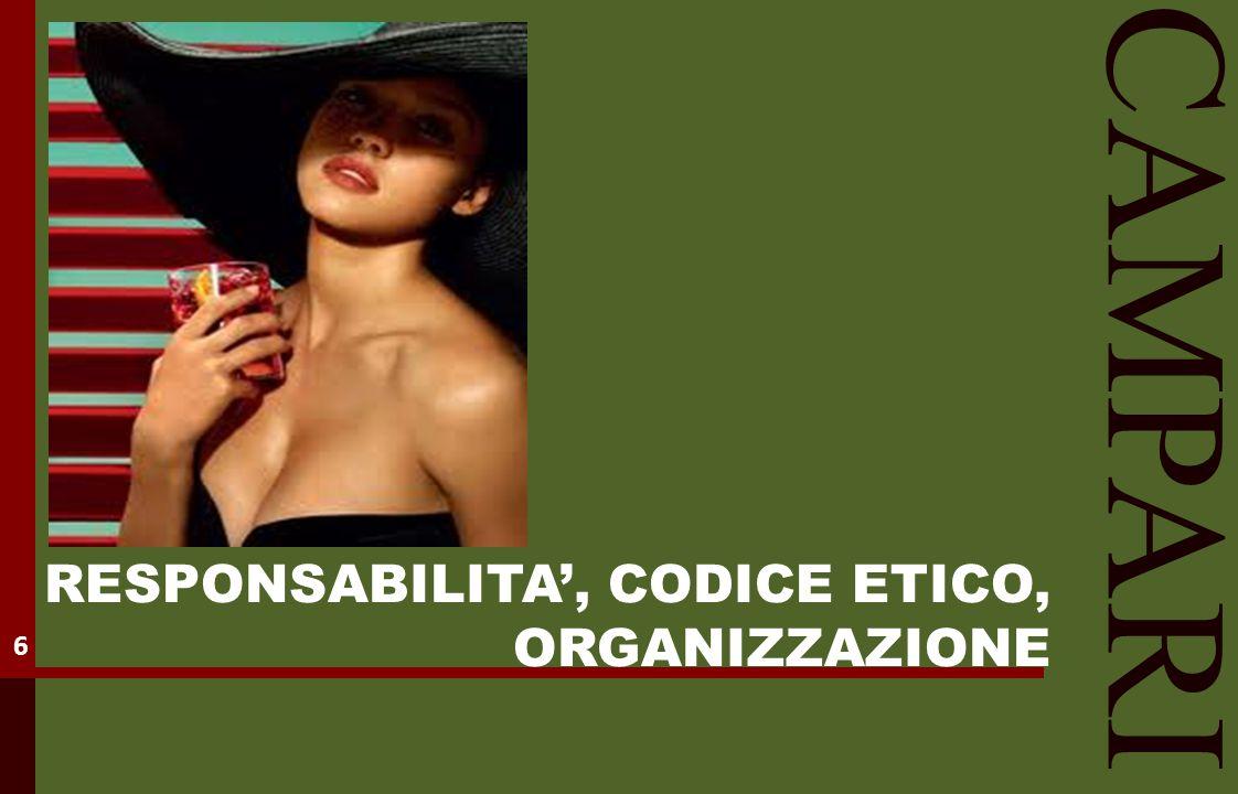 RESPONSABILITA', CODICE ETICO, ORGANIZZAZIONE CAMPARI 6