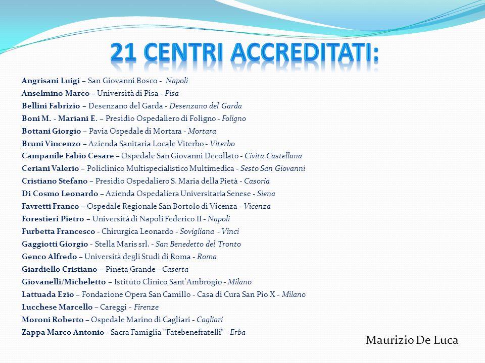 Realizzata con il Consiglio Direttivo SICOB: Maurizio De Luca