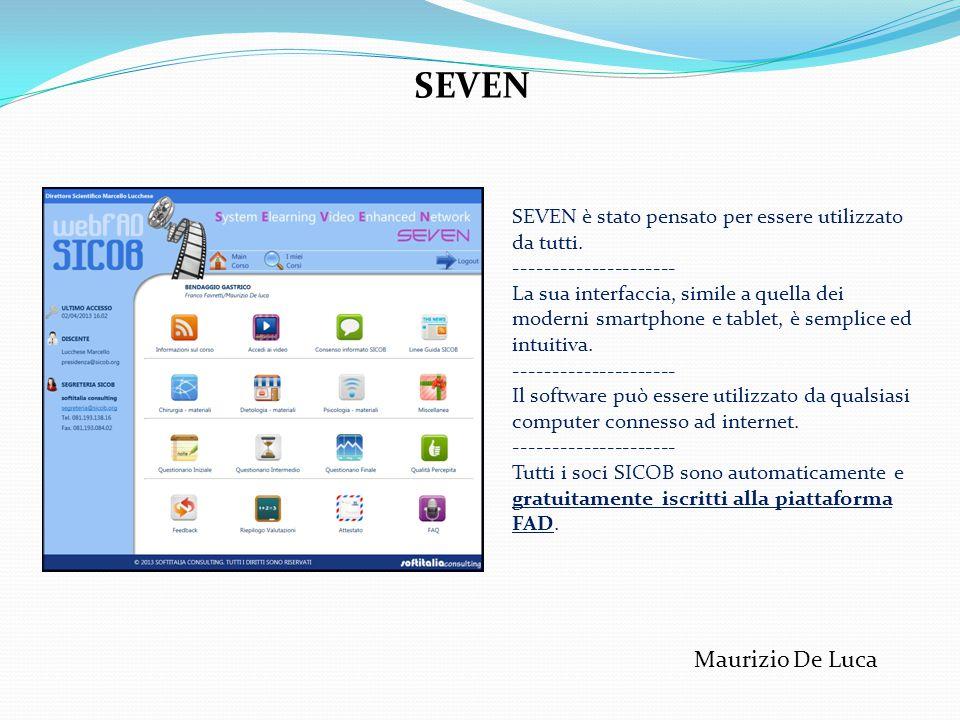 SEVEN è stato pensato per essere utilizzato da tutti. --------------------- La sua interfaccia, simile a quella dei moderni smartphone e tablet, è sem