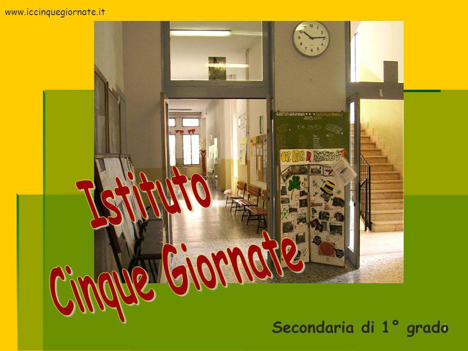 1 Secondaria di 1° grado www.iccinquegiornate.it