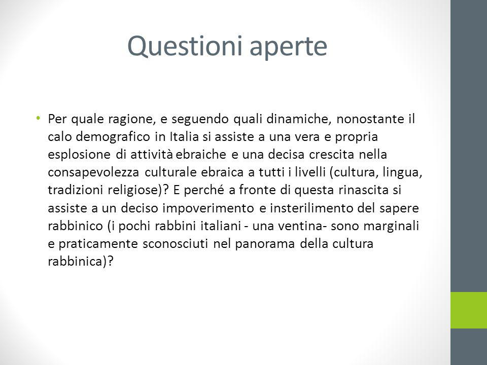 Questioni aperte Per quale ragione, e seguendo quali dinamiche, nonostante il calo demografico in Italia si assiste a una vera e propria esplosione di