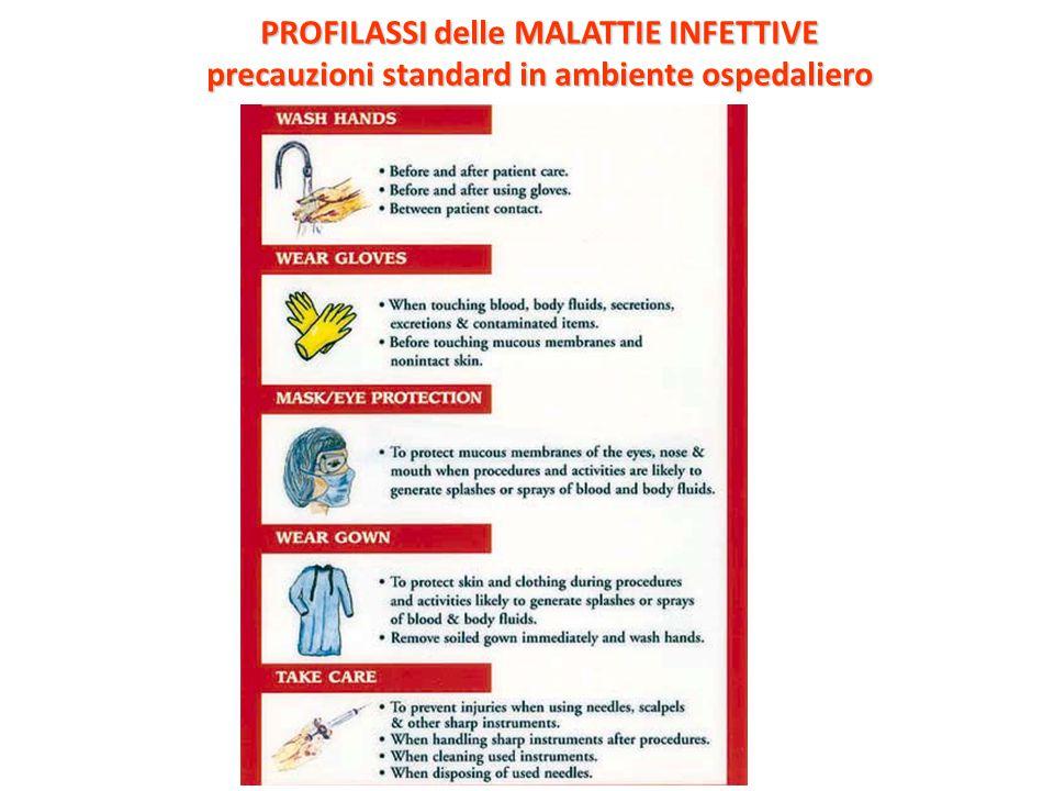 PROFILASSI delle MALATTIE INFETTIVE precauzioni standard in ambiente ospedaliero
