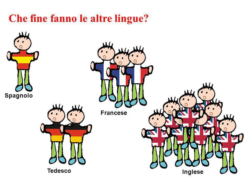 Tedesco Spagnolo Francese Inglese Che fine fanno le altre lingue?