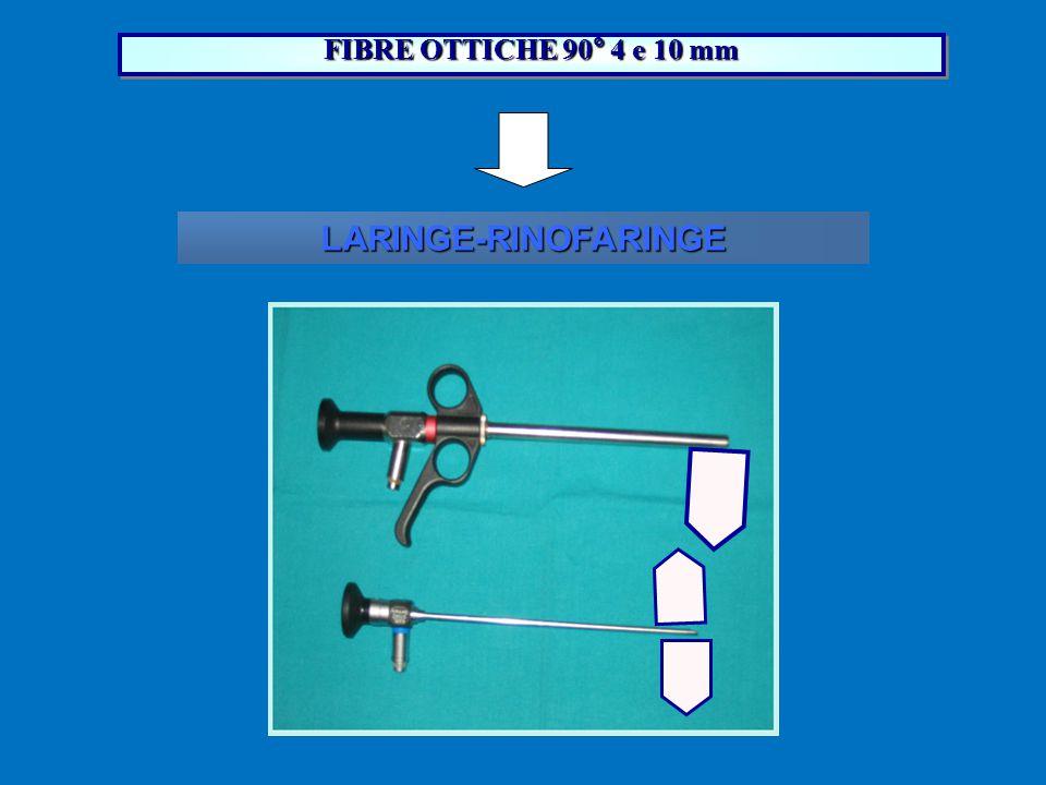 FIBRE OTTICHE 90° 4 e 10 mm LARINGE-RINOFARINGE