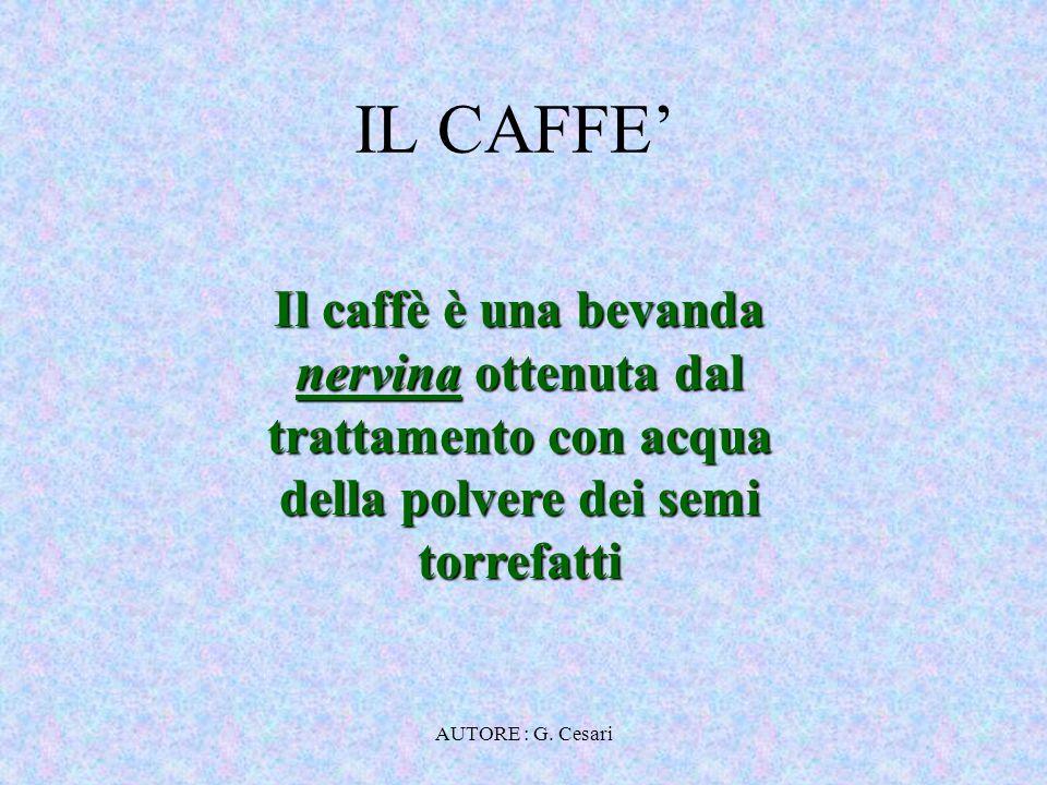 AUTORE : G. Cesari COMPONENTI DEL CAFFE'