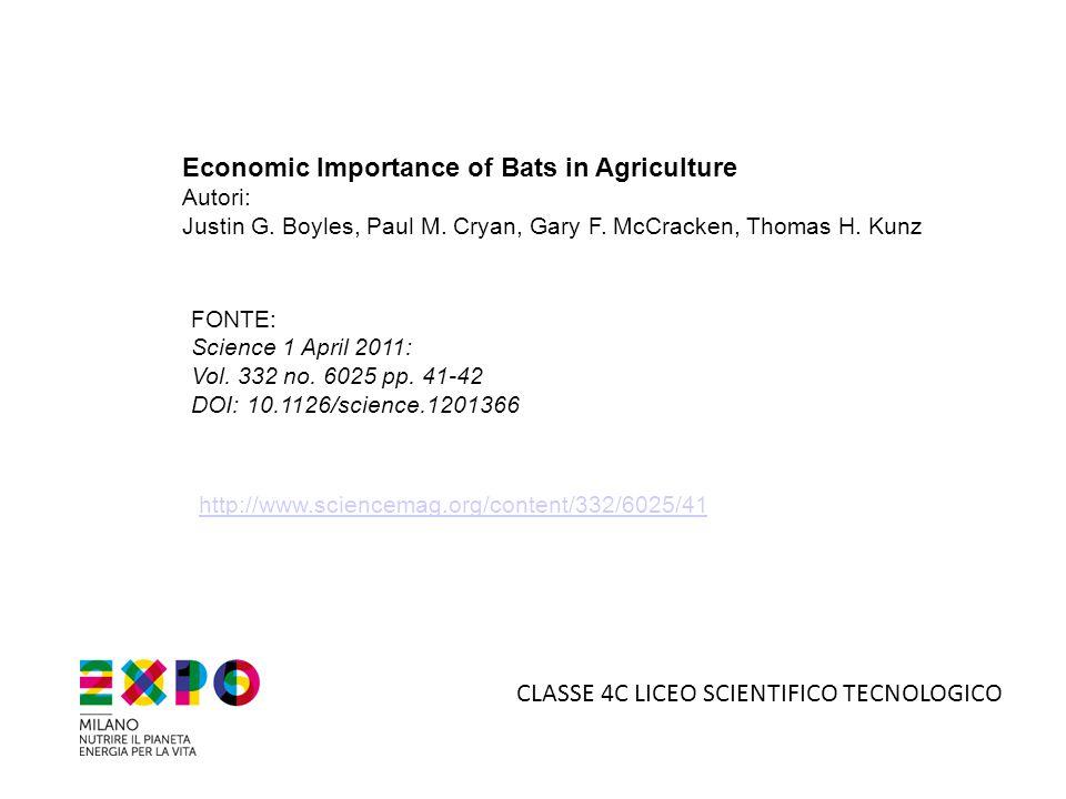 5°B LICEO SCIENTIFICO TECNOLOGICO … E ANCHE A MILANO Nell' agosto 2012 il Comune ha collocato 400 bat box.