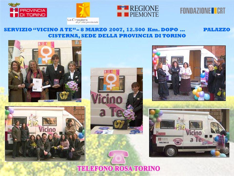 SERVIZIO VICINO A TE – 8 MARZO 2007, 12.500 Km.