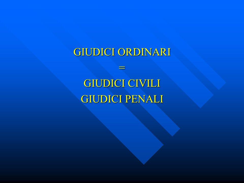GIURISDIZIONE/ORDINI GIUDICI MILITARI GIUDICI TRIBUTARI GIUDICI AMMINISTRATIVI GIUDICI CONTABILI GIUDICI ORDINARI