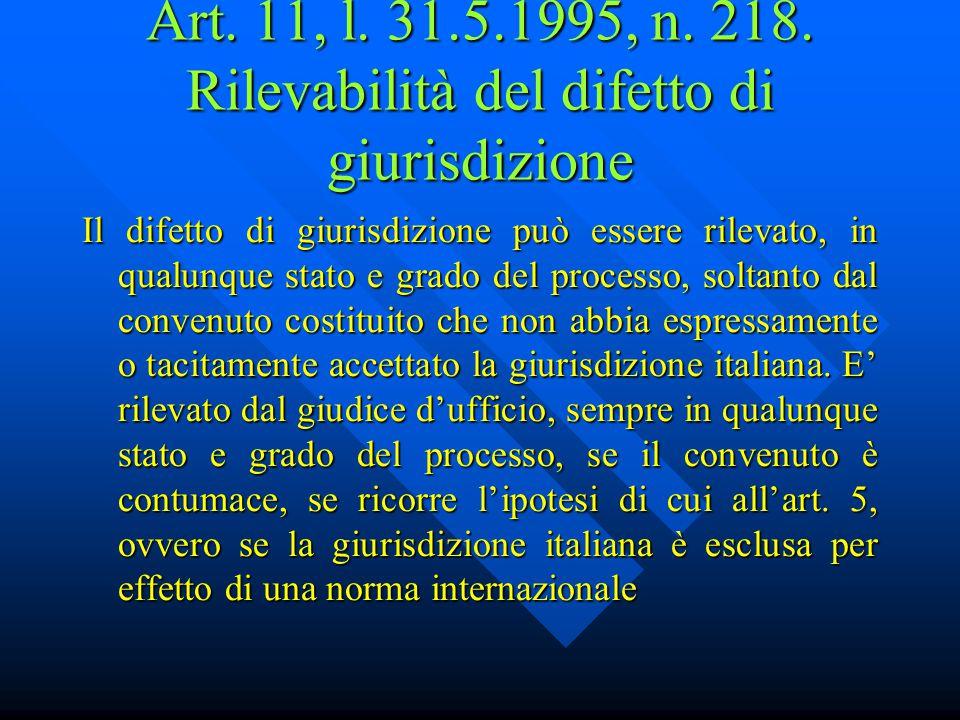 Art.3, l. 31.5.1995, n. 218.