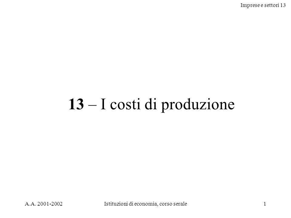 Imprese e settori 13 A.A.
