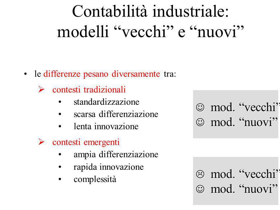 le differenze pesano diversamente tra:  contesti tradizionali standardizzazione scarsa differenziazione lenta innovazione  contesti emergenti ampia differenziazione rapida innovazione complessità mod.