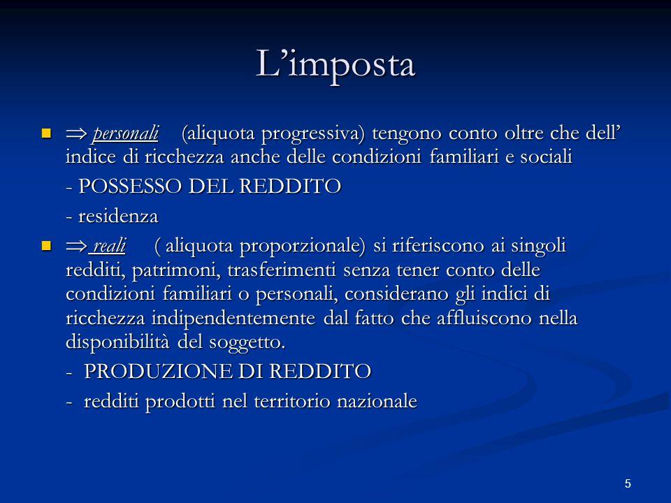 16 Il principio di legalità 1.Rinvio alla legge 2.