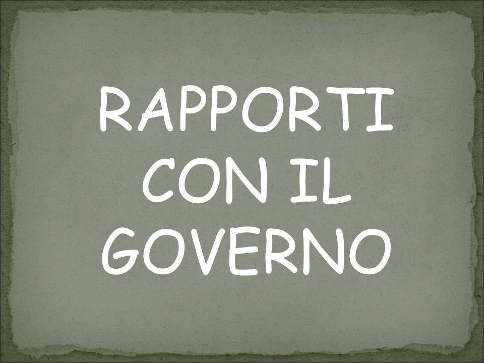 RAPPORTI CON IL GOVERNO