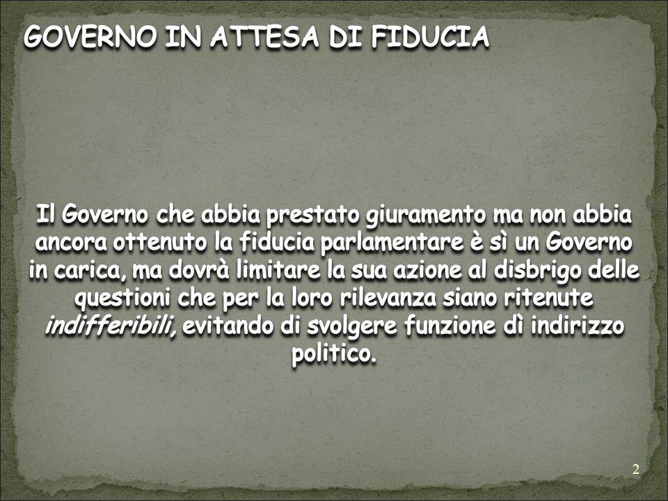 3 LA MOZIONE DI FIDUCIA (art.