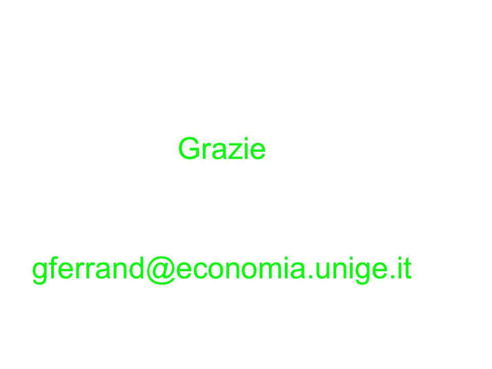Grazie gferrand@economia.unige.it