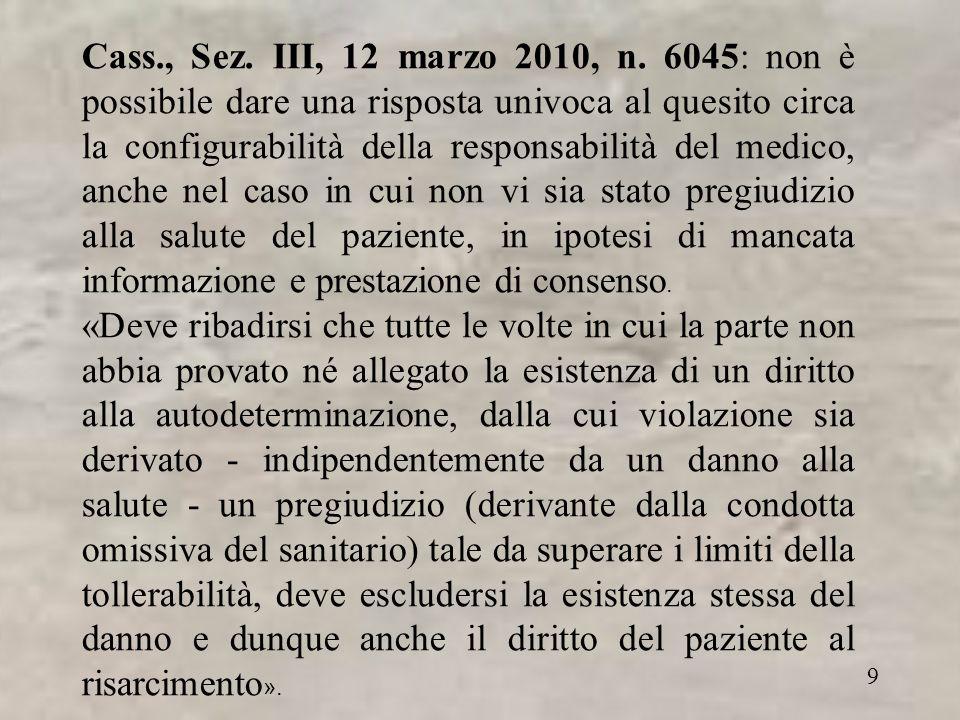 9 Cass., Sez. III, 12 marzo 2010, n.
