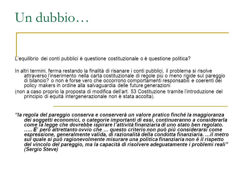 Legge n.243/2012 L'OBIETTIVO A MEDIO TERMINE (art.