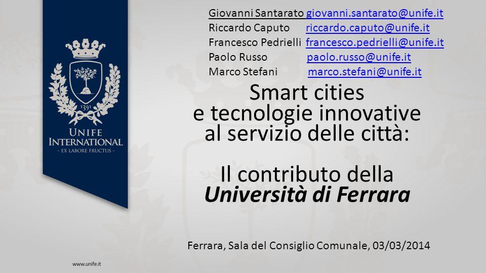 Obiettivi e unità operative Definizione dell'assetto tettonico strutturale del sottosuolo urbano di Ferrara (Prof.